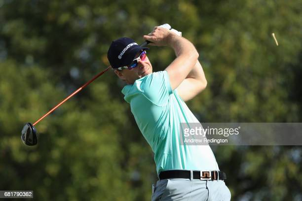 Roope Kakko of Finland hits his tee shot on the 13th hole during the first round of the Open de Portugal at the Morgado Golf Resort on May 11 2017 in...