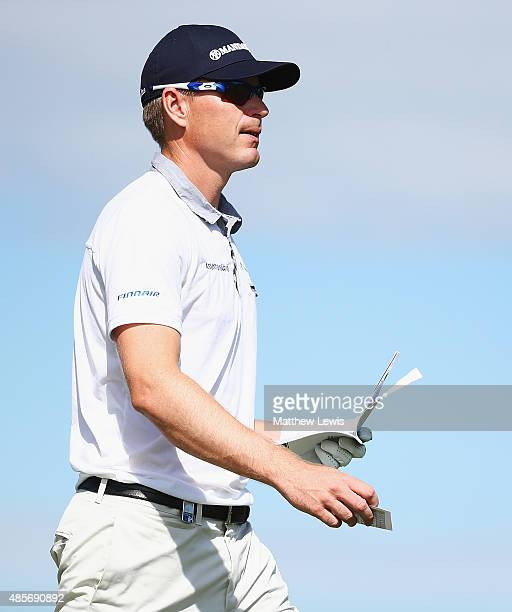 Roope Kakko of Finland looks on during day three of the DD Real Czech Masters at Albatross Golf Resort on August 29 2015 in Prague Czech Republic
