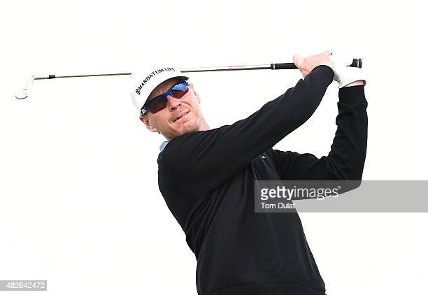 Roope Kakko of Finland tees off from the 1st hole during day three of the Madeira Islands Open Portugal BPI at Club de Golf do Santo da Serra on...