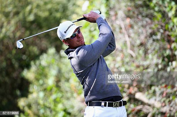 Roope Kakko of Finland tees off on the 3rd hole during day three of the Open de Espana at Real Club Valderrama on April 16 2016 in Sotogrande Spain
