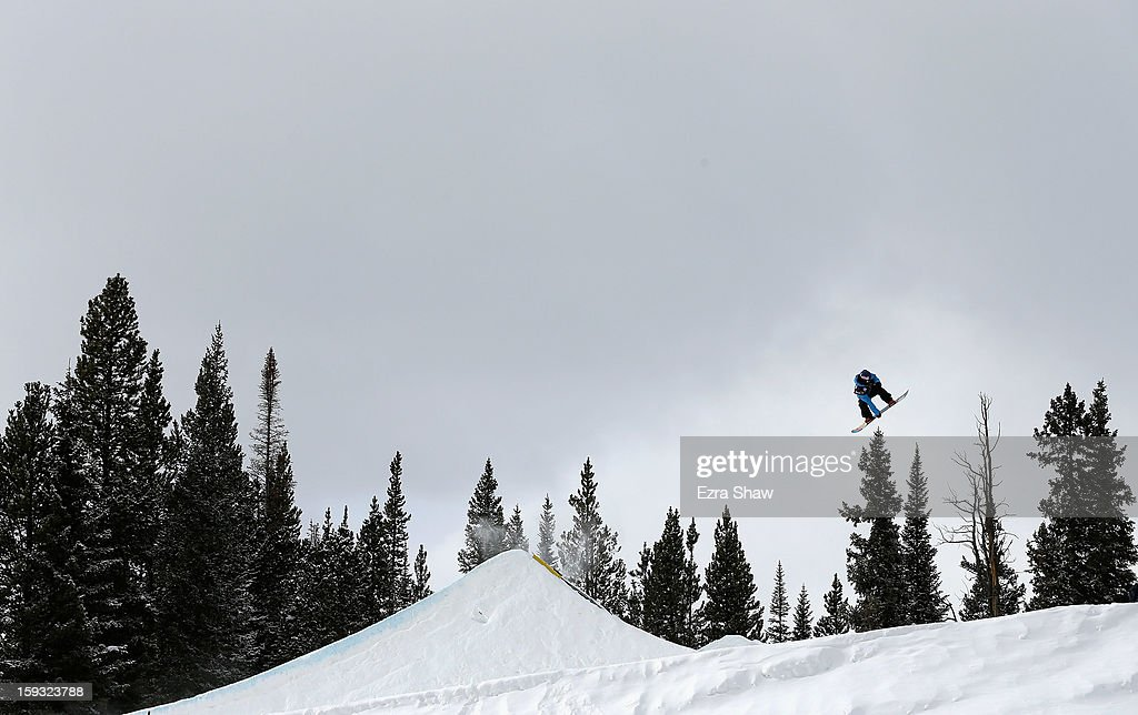 Roope Tonteri of Finland competes in the FIS Snowboard Slope Style World Cup finals at the US Grand Prix on January 11, 2013 in Copper Mountain, Colorado.