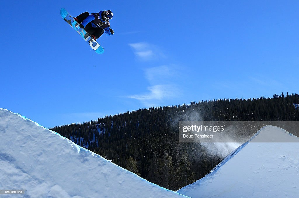 Roope Tonteri of Finland goes airborn as he descends the course during qualification for the men's FIS Snowboard Slope Style World Cup at the Sprint US Snowboarding Grand Prix on January 9, 2013 in Copper Mountain, Colorado. Roope finished third in his heat to advance to the finals.