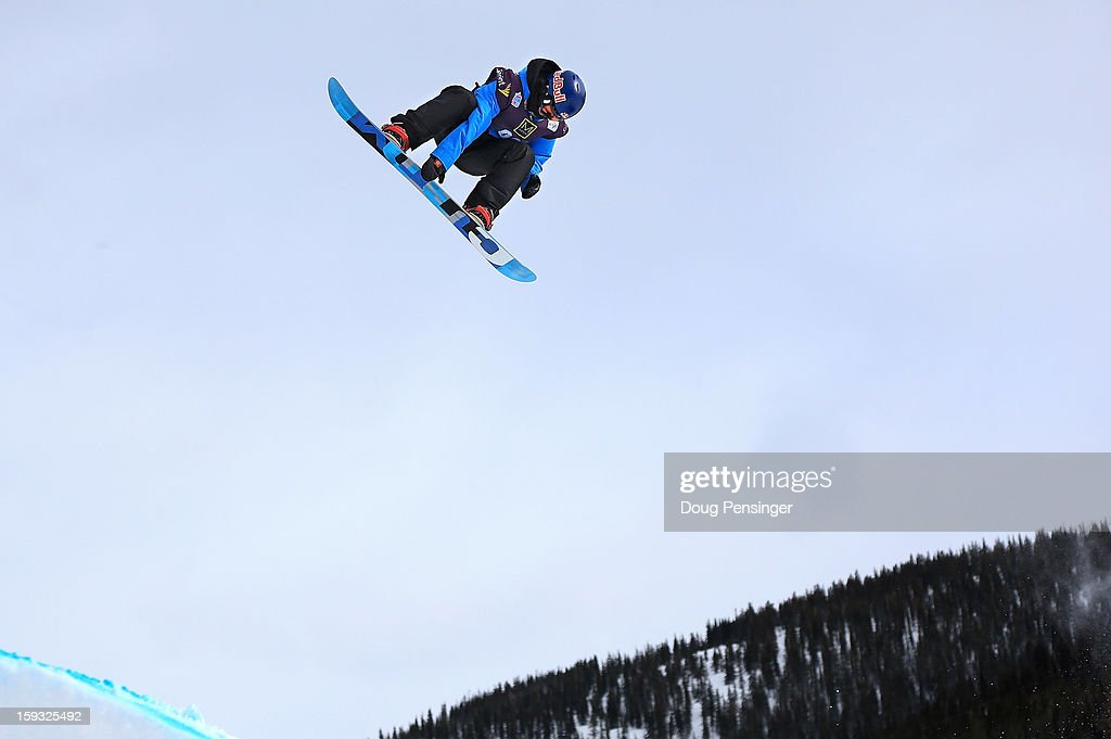 Roope Tonteri of Finland soars to second place in the men's FIS Snowboard Slope Style World Cup at the US Grand Prix on January 11, 2013 in Copper Mountain, Colorado.