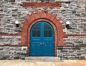 Blue door on Roosevelt island.