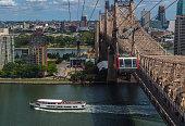 Roosevelt Island Tram and Queensboro Bridge.