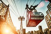 Roosevelt Island Tramway in New York City. USA.