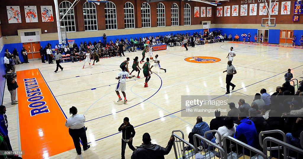 WASHINGTON, DC -FEBRUARY 11, 2016- Roosvelt hosting Woodson in the school's new gym on February 11, 2016 in Washington, DC.