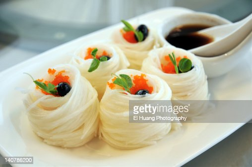 Root noodles : Stock Photo