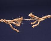 A rope almost broken
