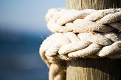 rope attached to the pier