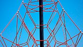 Rope climbing structure.