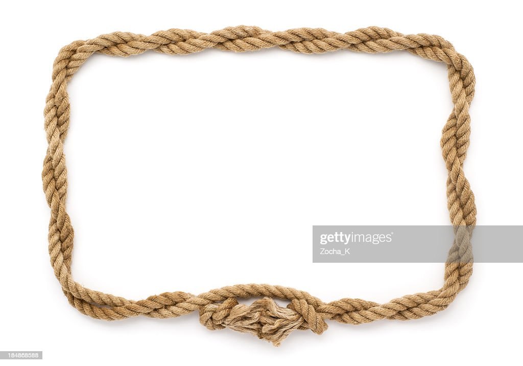 Rope frame stock photo getty images Rope photo frame