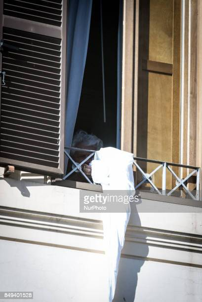 A rope made of knotted sheets like the ones used in the escapes from prison was dropped shortly after 330 pm from the window on the third floor of...