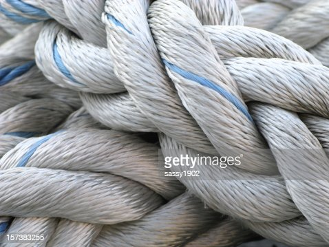 Rope nautical marina stock photo getty images for Heavy rope for nautical use