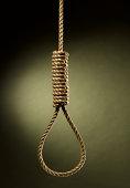 Rope noose hanging