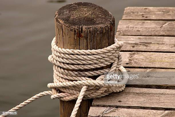 Rope on a jetty