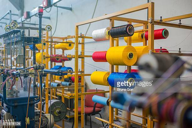 Ropes being made in factory that makes products for boating and camping