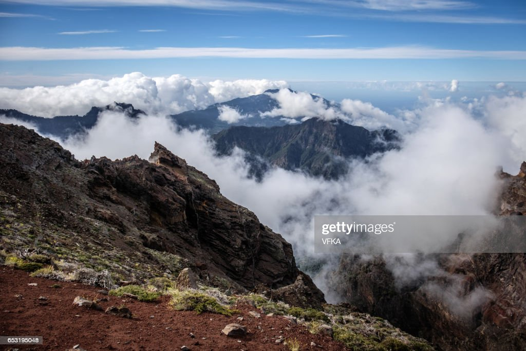 Roque de los Muchacos, La Palma, Spain : Stock Photo