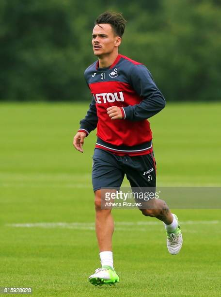 Roque Mesa in action during the Swansea City Training at The Fairwood Training Ground on July 11 2017 in Swansea Wales