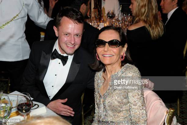 Roric Tobin and Judy Price attend LNHN Honours Geoffrey Bradfield and John Manice at Cipriani 42nd Street on April 18 2017 in New York City