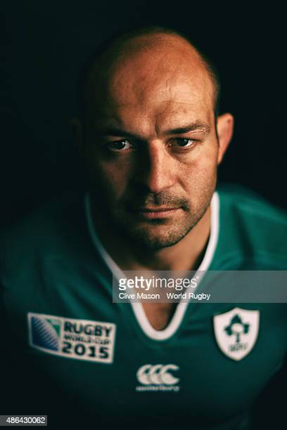 Rory Best of Ireland poses for a portrait on June 28 2015 in Maynooth Ireland