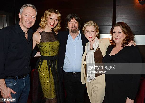 Rory Bremner Leigh Zimmerman Sir Trevor Nunn Patricia Hodge and Caroline Quentin attend an after party celebrating the press night performance of...