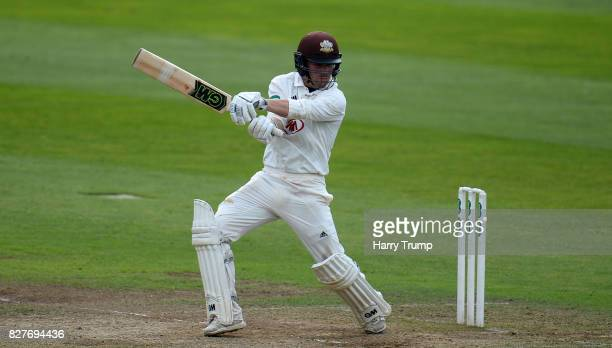 Rory Burns of Surrey bats during Day Two of the Specsavers County Championship Division One match between Somerset and Surrey at The Cooper...