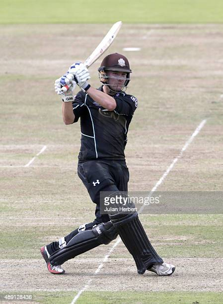Rory Burns of Surrey in action during the Royal London OneDay Cup Final between Surrey and Gloustershire at Lord's Cricket Ground on September 19...