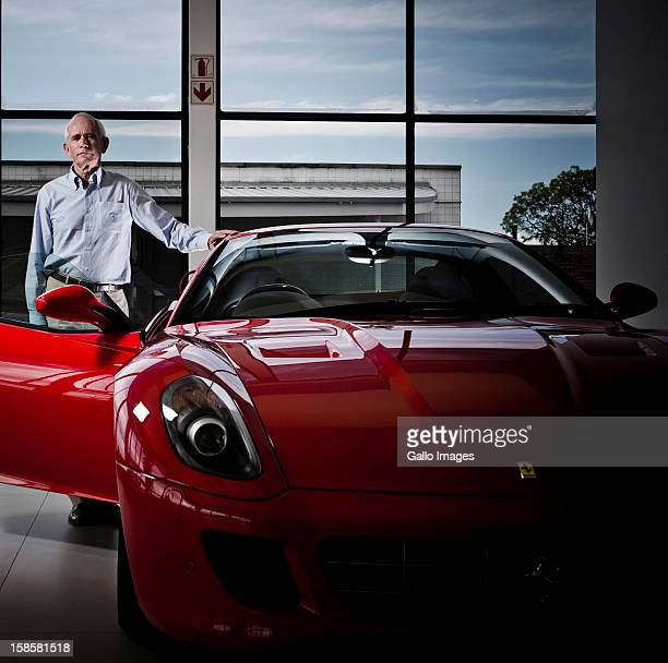Rory Byrne at Vigliettimotors on December 19 in Johannesburg South Africa Rory was the head designer for Ferrari's F1 vehicles for 15 years