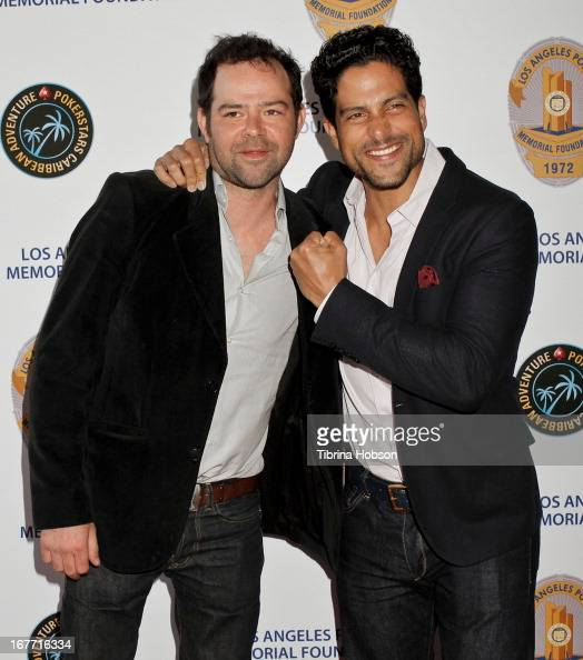 Rory Cochrane and Adam Rodriguez attend the Los Angeles Police Memorial Foundation's celebrity poker tournament at Saban Theatre on April 27 2013 in...