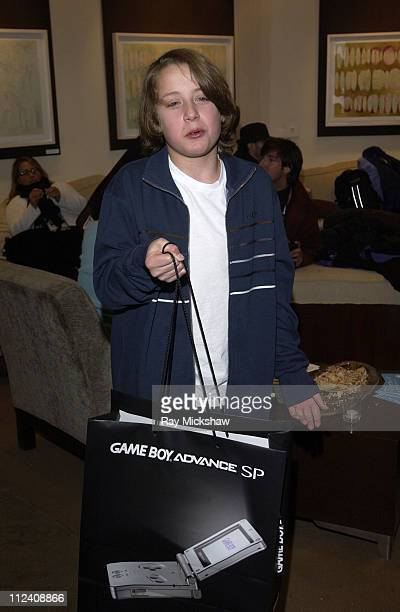 Rory Culkin with Nintendo during 2004 Park City HP Portrait Studio Hosted by Wireimage at Hp Portrait Studio in Park City Utah United States