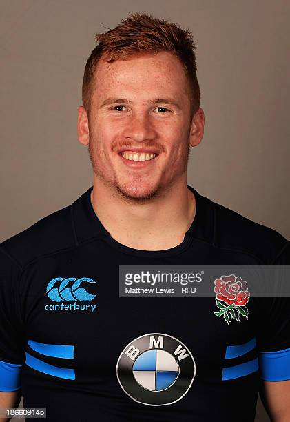 Rory Jennings of England U18's poses for a portrait during an England Rugby Union U18's Headshot session at Loughborough University on November 1...