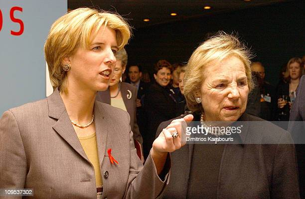 Rory Kennedy and Ethel Kennedy during HBO Films 'Pandemic Facing AIDS' Screening at United Nations in New York City New York