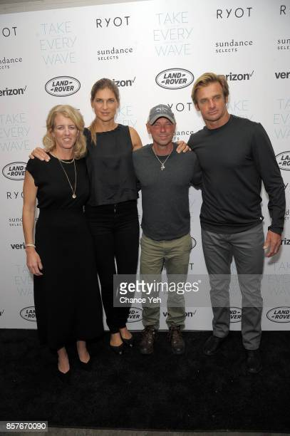 Rory Kennedy Gabrielle Reece Kenny Chesney and Laird Hamilton attend 'Take Every Wave The Life Of Laird Hamilton' New York premiere at The Metrograph...