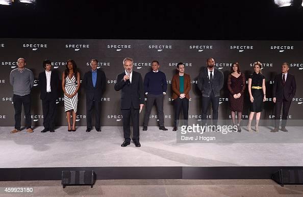 Rory Kinnear Ben Whishaw Naomie Harris Ralph Fiennes director Sam Mendes Daniel Craig Andrew Scott Dave Bautista Monica Bellucci Lea Seydoux and...