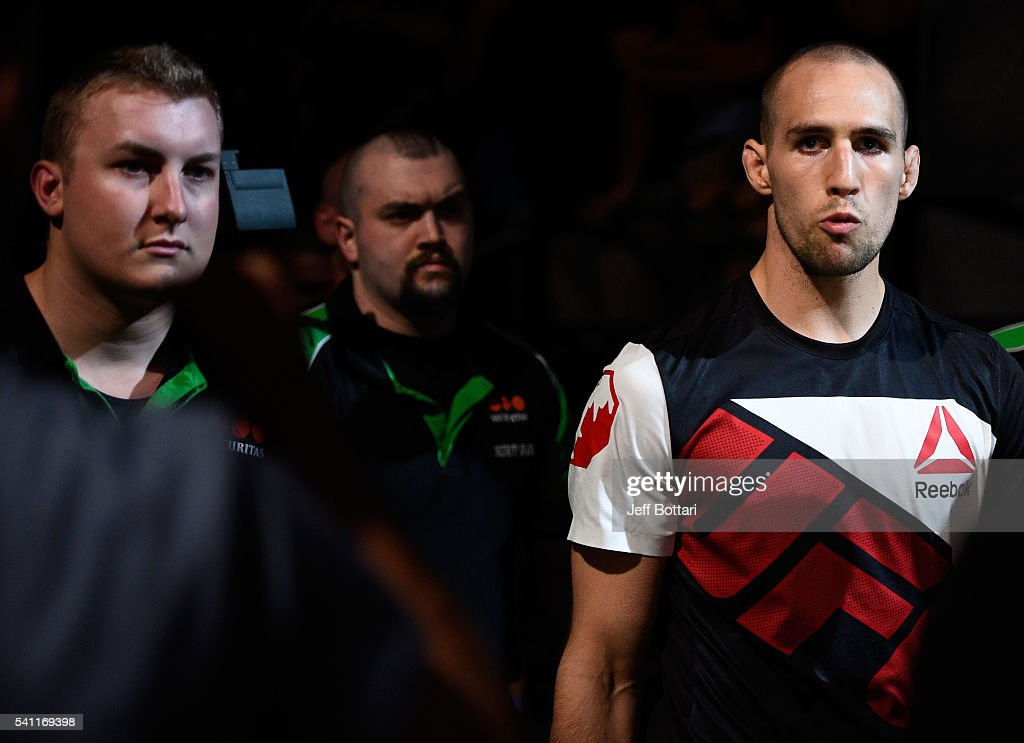 Rory MacDonald of Canada prepares to enter the Octagon before facing Stephen Thompson of the United States in their welterweight bout during the UFC Fight Night event inside the TD Place Arena on June 18, 2016 in Ottawa, Ontario, Canada.