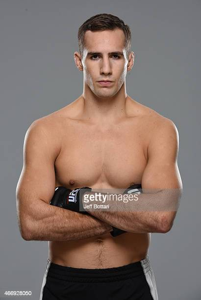 Rory MacDonald poses for a portrait during a UFC photo session on October 1 2014 in Halifax Nova Scotia Canada