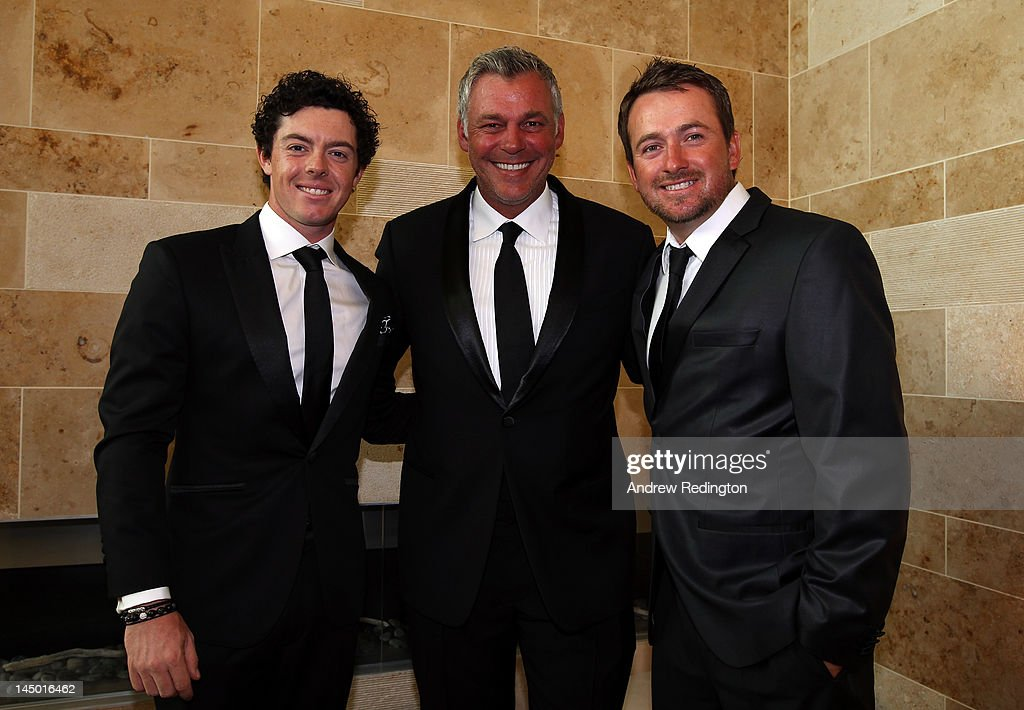 <a gi-track='captionPersonalityLinkClicked' href=/galleries/search?phrase=Rory+McIlroy&family=editorial&specificpeople=783109 ng-click='$event.stopPropagation()'>Rory McIlroy</a>, <a gi-track='captionPersonalityLinkClicked' href=/galleries/search?phrase=Darren+Clarke&family=editorial&specificpeople=171309 ng-click='$event.stopPropagation()'>Darren Clarke</a> and <a gi-track='captionPersonalityLinkClicked' href=/galleries/search?phrase=Graeme+McDowell+-+Golfer&family=editorial&specificpeople=196520 ng-click='$event.stopPropagation()'>Graeme McDowell</a> pose for a picture at the European Tour Golfer of the Year Awards dinner at the Sofitel Hotel London Heathrow on May 22, 2012 in London, England.