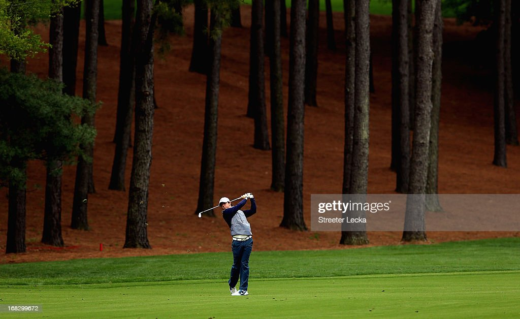<a gi-track='captionPersonalityLinkClicked' href=/galleries/search?phrase=Rory+McIlroy&family=editorial&specificpeople=783109 ng-click='$event.stopPropagation()'>Rory McIlroy</a> during the second round of the Wells Fargo Championship at Quail Hollow Club on May 3, 2013 in Charlotte, North Carolina.