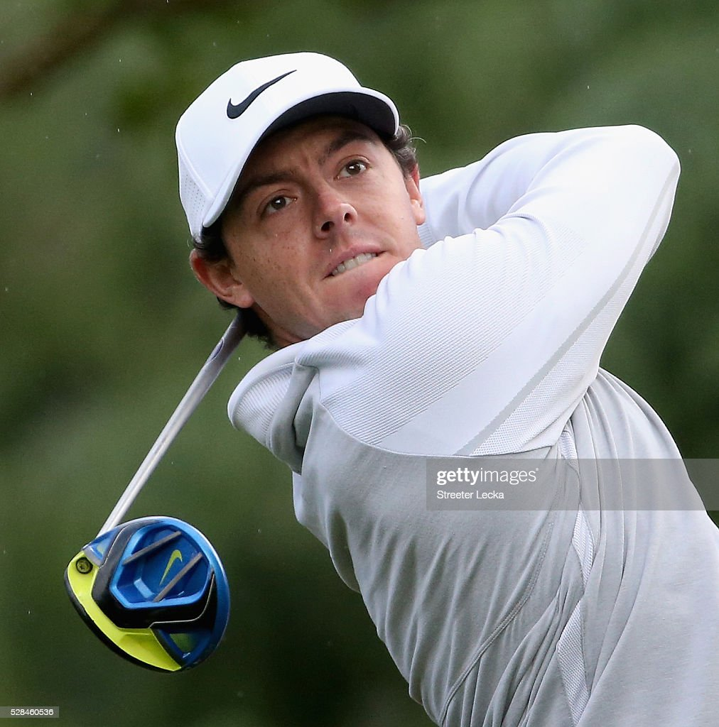 <a gi-track='captionPersonalityLinkClicked' href=/galleries/search?phrase=Rory+McIlroy&family=editorial&specificpeople=783109 ng-click='$event.stopPropagation()'>Rory McIlroy</a> hits a tee shot on the 11th hole during the first round of the 2016 Wells Fargo Championship at Quail Hollow Club on May 5, 2016 in Charlotte, North Carolina.