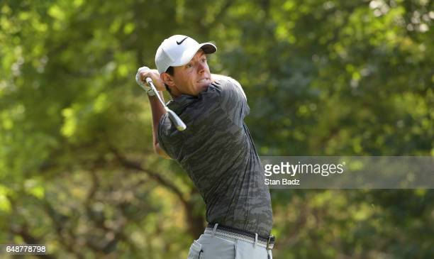Rory McIlroy Northern Ireland hits a tee shot on the seventh hole during the final round of the World Golf ChampionshipsMexico Championship at Club...