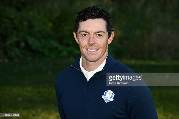 Rory McIlroy of Europe poses during team photocalls prior to the 2016 Ryder Cup at Hazeltine National Golf Club on September 27 2016 in Chaska...