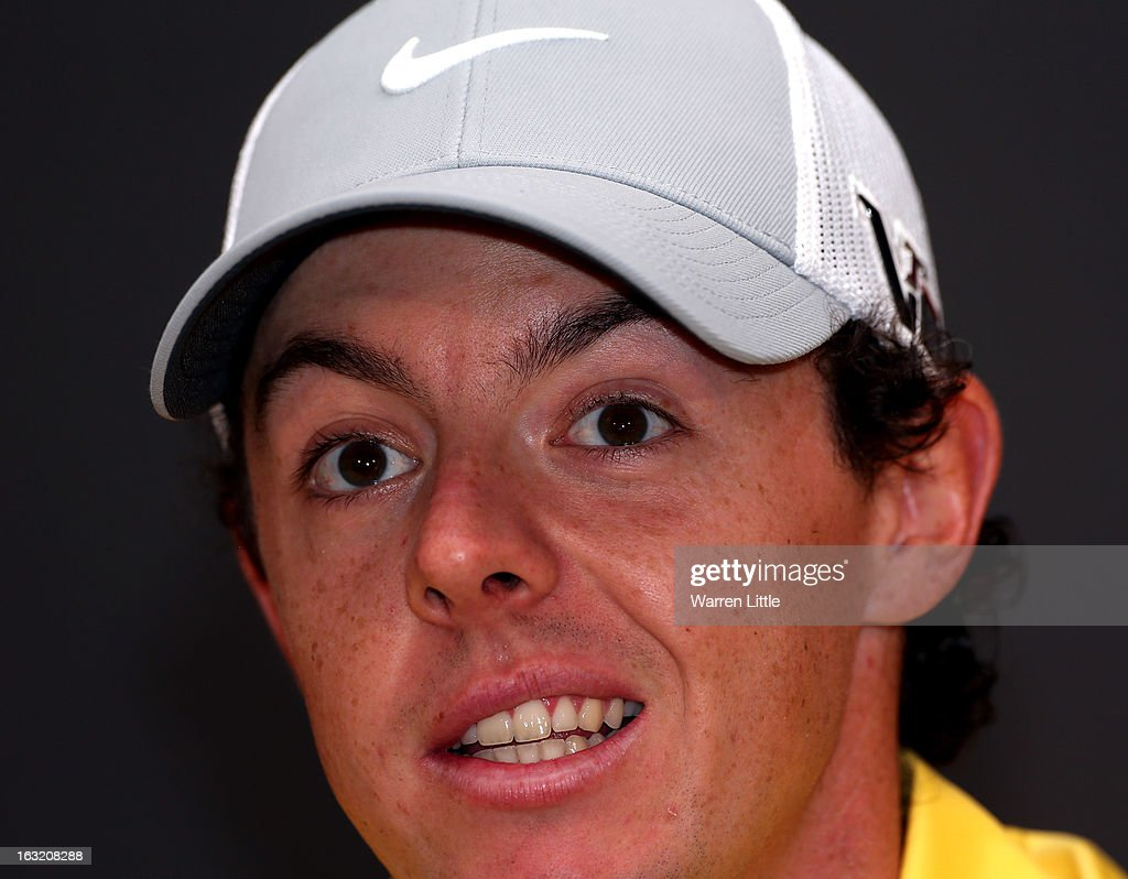 Rory McIlroy of Northern Ireland addresses the media ahead of the WGC - Cadillac Championship at the Doral Golf Resort & Spa on March 6, 2013 in Miami, Florida.