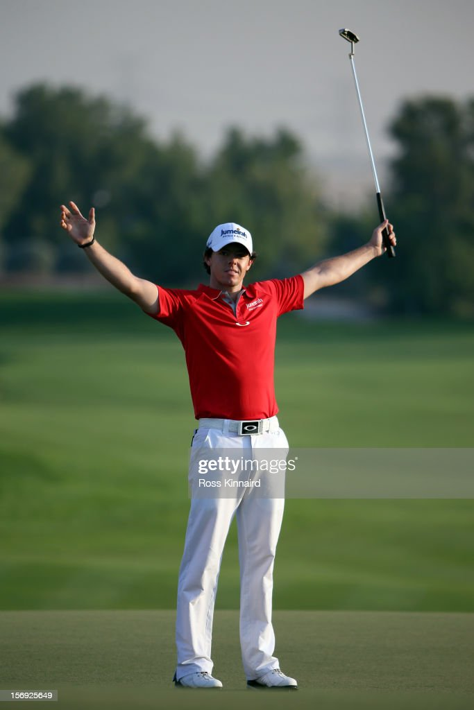 <a gi-track='captionPersonalityLinkClicked' href=/galleries/search?phrase=Rory+McIlroy&family=editorial&specificpeople=783109 ng-click='$event.stopPropagation()'>Rory McIlroy</a> of Northern Ireland celebrates after winning the DP World Tour Championship on the 18th green during the final roung of the DP World Tour Championship on the Earth Course at Jumeirah Golf Estates on November 25, 2012 in Dubai, United Arab Emirates.