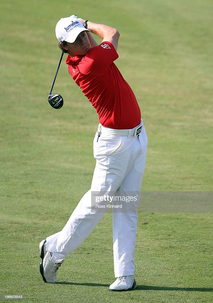 Rory McIlroy of Northern Ireland during the final round the DP World Tour Championship on the Earth Course at Jumeirah Golf Estates on November 25, 2012 in Dubai, United Arab Emirates.