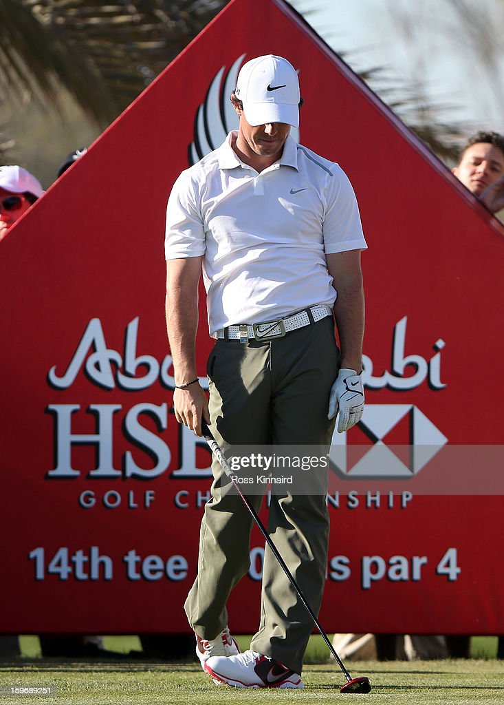 Rory McIlroy of Northern Ireland during the second round of the Abu Dhabi HSBC Golf Championship at the Abu Dhabi Golf Club on January 18, 2013 in Abu Dhabi, United Arab Emirates.