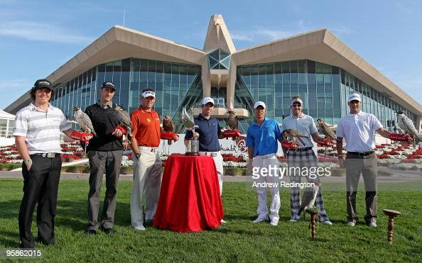 Rory McIlroy of Northern Ireland Geoff Ogilvy of Australia Lee Westwood of England defending champion Paul Casey of England Anthony Kim of the USA...