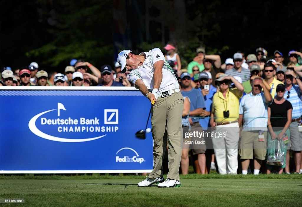 <a gi-track='captionPersonalityLinkClicked' href=/galleries/search?phrase=Rory+McIlroy&family=editorial&specificpeople=783109 ng-click='$event.stopPropagation()'>Rory McIlroy</a> of Northern Ireland hits a drive on the 12th hole during the third round of the Deutsche Bank Championship at TPC Boston on September 2, 2012 in Norton, Massachusetts.
