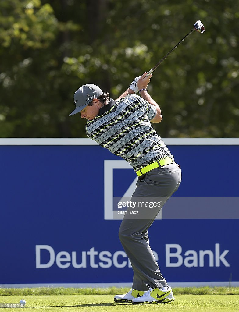<a gi-track='captionPersonalityLinkClicked' href=/galleries/search?phrase=Rory+McIlroy&family=editorial&specificpeople=783109 ng-click='$event.stopPropagation()'>Rory McIlroy</a> of Northern Ireland hits a drive on the 14th hole during the first round of the Deutsche Bank Championship at TPC Boston on August 29, 2014 in Norton, Massachusetts.