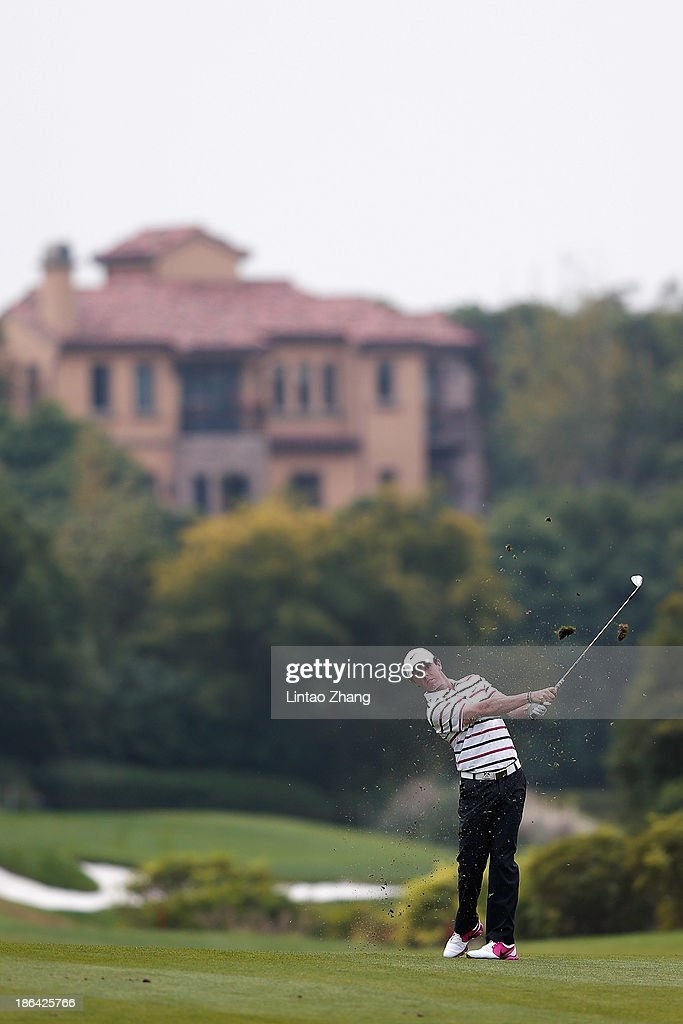 Rory McIlroy of Northern Ireland hits a shot during the first round of the WGC-HSBC Champions at the Sheshan International Golf Club on October 31, 2013 in Shanghai, China.